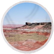 Round Beach Towel featuring the photograph Amazing American Landscape by Judy Hall-Folde