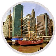 Round Beach Towel featuring the photograph Ambrose by Alice Gipson