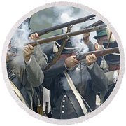 American Infantry Firing Round Beach Towel by JT Lewis