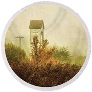 Ancient Transformer Tower Round Beach Towel