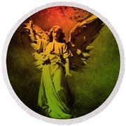 Round Beach Towel featuring the photograph Angel Of Death by David Dehner
