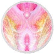 Angel Of Divine Love Round Beach Towel by Diana Haronis