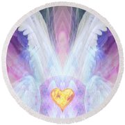 Angel Of The Innocent Round Beach Towel by Diana Haronis