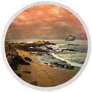 Anthony Boy - A Magical Morning Round Beach Towel