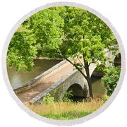Antietam's Burnside Bridge Round Beach Towel