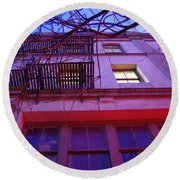 Round Beach Towel featuring the photograph Apartment Building by Marilyn Wilson
