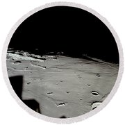 Apollo 11 Approaching Landing Site Round Beach Towel by Nasa