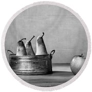 Apple And Pears 02 Round Beach Towel