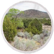 April New Mexico Desert Round Beach Towel