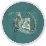 Aquaabstraction Round Beach Towel