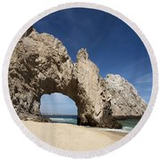 Arch Of Cabo San Lucas Round Beach Towel