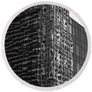 Architecture Reflections Round Beach Towel
