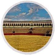 Arena De Toros - Sevilla Round Beach Towel