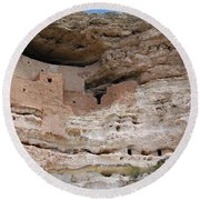 Arizona Cliff Dwelling Round Beach Towel