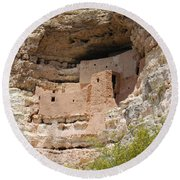 Arizona Cliff Dwellings Round Beach Towel