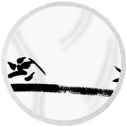Art Of War Round Beach Towel