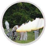 Artillery Demonstration Round Beach Towel by JT Lewis