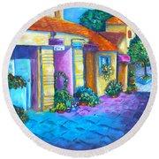 Artist Village Round Beach Towel by Diana Haronis