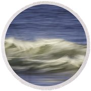 Round Beach Towel featuring the photograph Artistic Wave by Betty Denise