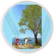 Artist's Art Round Beach Towel