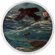 As The Crow Flys Round Beach Towel