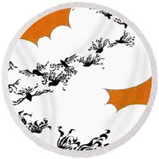 As The Crows Fly Round Beach Towel