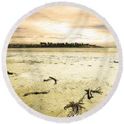 At Caroline Bay Timaru New Zealand Round Beach Towel