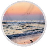 At Sunset Round Beach Towel