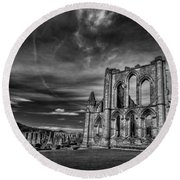 At The Dreamscape Ruins Round Beach Towel