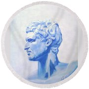 Athenian King Round Beach Towel