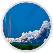 Atlas Launch Round Beach Towel
