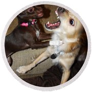 Attack Dogs Round Beach Towel