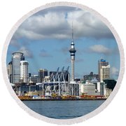 Auckland Skyline Round Beach Towel