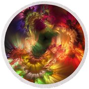 Auras Emotional Reflections Round Beach Towel