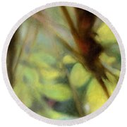 Round Beach Towel featuring the painting Autumn Dream by Andrew King