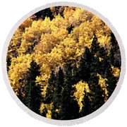 Autumn In Colorado Painting Round Beach Towel