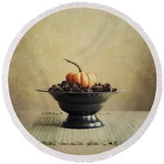 Autumn Round Beach Towel by Priska Wettstein