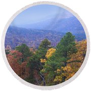 Autumn Splendor Round Beach Towel by Betty LaRue