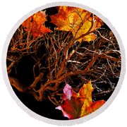 Autumnal Feelings Round Beach Towel