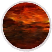 Autumn's Grace Round Beach Towel by Lourry Legarde