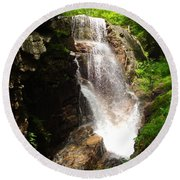 Avalanche Falls Round Beach Towel