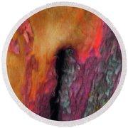 Round Beach Towel featuring the digital art Awaken by Richard Laeton