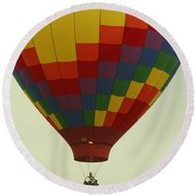 Balloon Ride Round Beach Towel