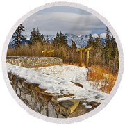 Banff Scene Round Beach Towel
