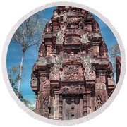 Banteay Srei Temple Tower Round Beach Towel