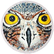 Barney Day Light Round Beach Towel by Lisa Brandel