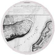 Battle Of Sainte-foy, 1760 Round Beach Towel