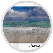 Beach Background Round Beach Towel