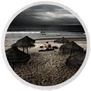 Beach Minstrel Round Beach Towel