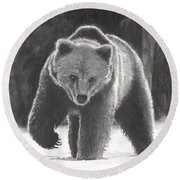 Bear Necessities Round Beach Towel